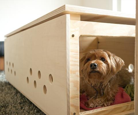 diy custom cabinet dog crate
