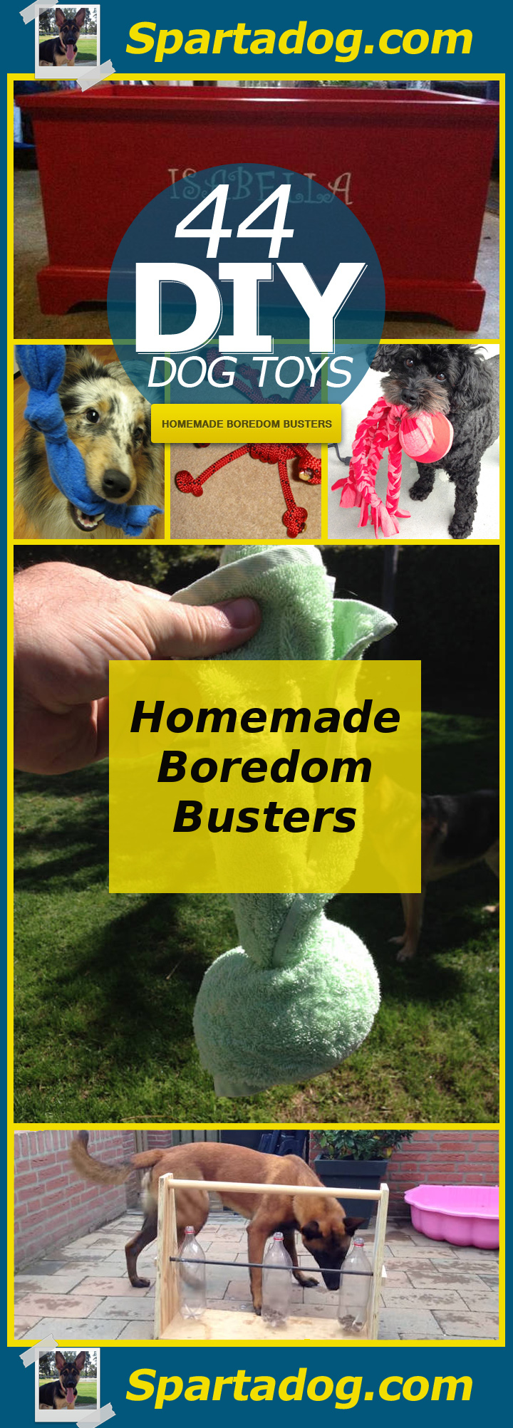 44 Really Cool Homemade Diy Dog Toys Your Dog Will Love Spartadog Blog
